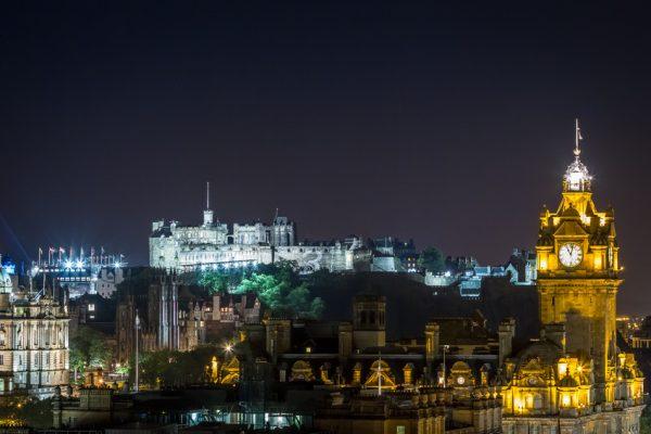 Edinburgh city at night, halloween