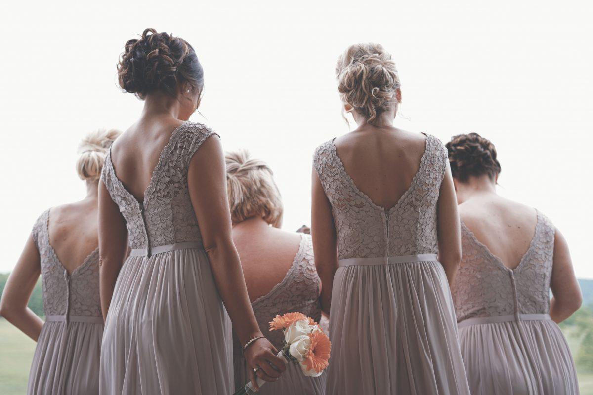 bridemaids at a wedding