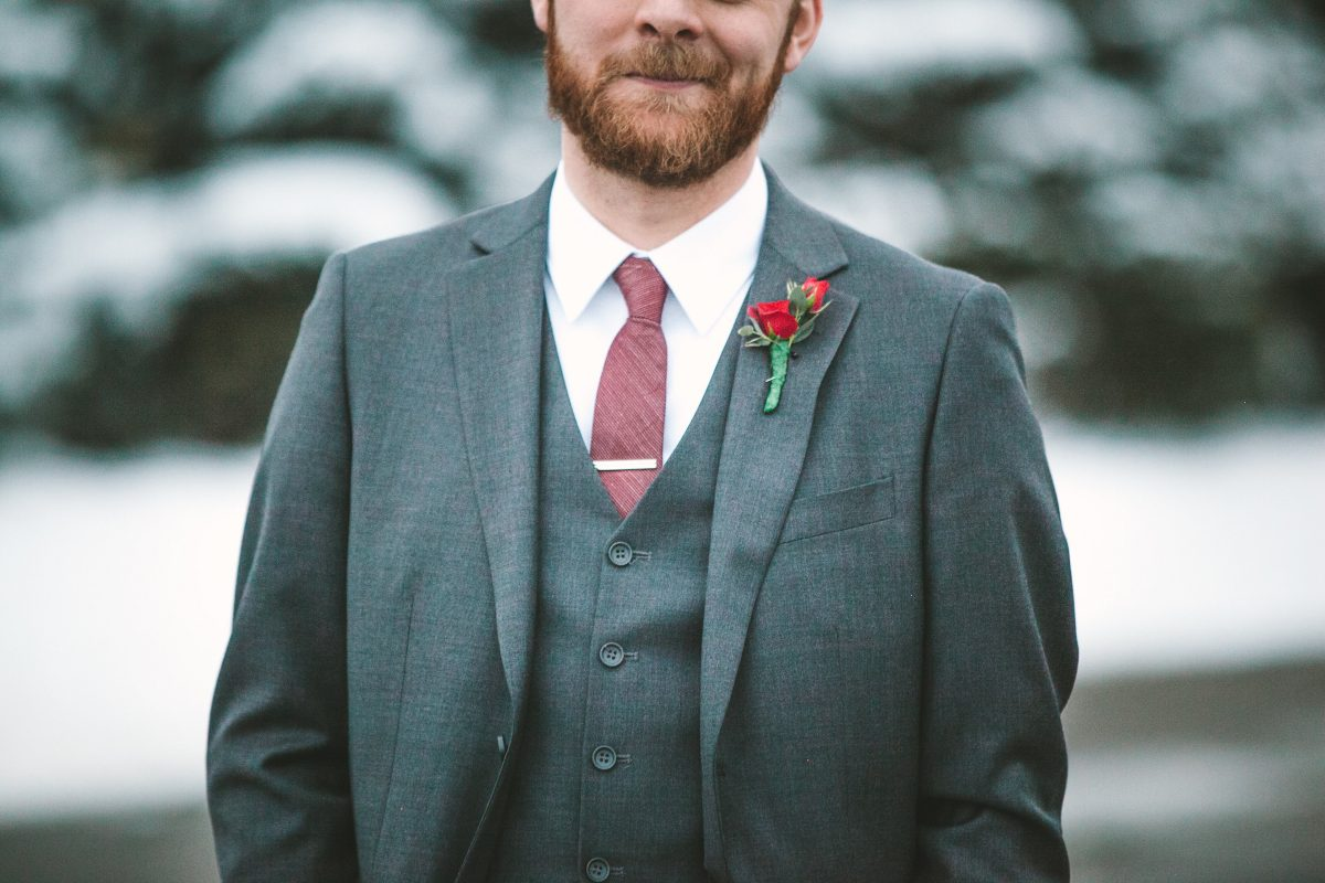 best man in a suit